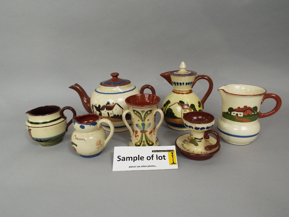 Lot 67 - An extensive collection of Torquay wares including teapot, coffee pot, hot water jugs, various other