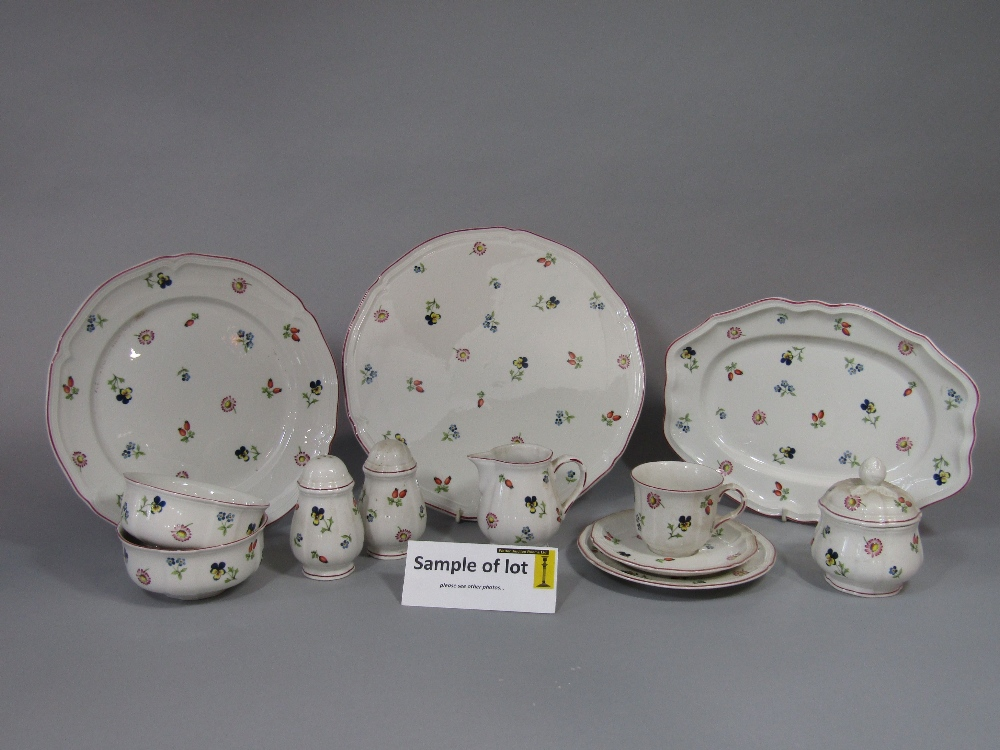 Lot 1 - A collection of Villeroy & Boch Petite Fleur wares comprising oval serving plate 29.5cm long approx,