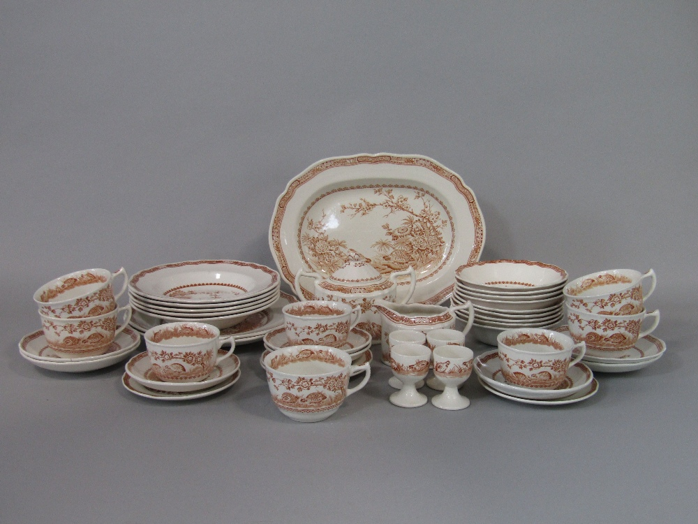 Lot 30 - A collection of Furnivals Quail pattern breakfast and other wares including an oval serving plate,