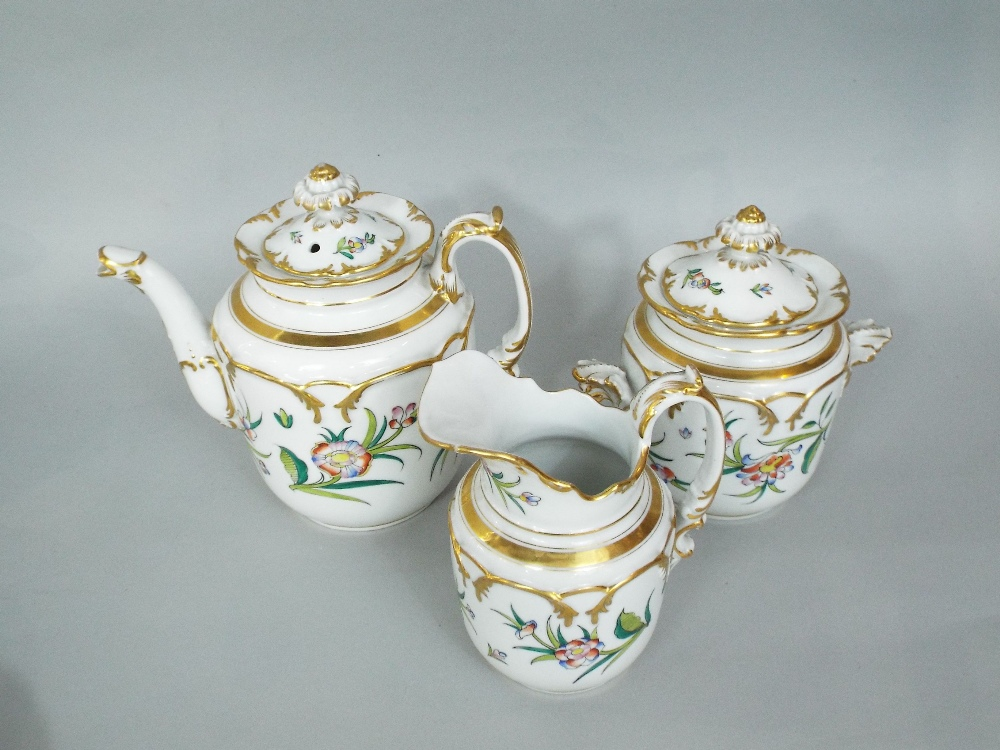 Lot 112 - A collection of continental dessert and teawares with painted and gilded dessert and teawares with