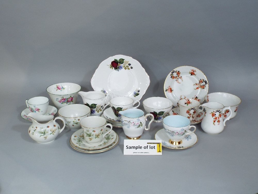 Lot 94 - A collection of Royal Doulton Strawberry Cream pattern teawares TC1118 including milk jug, sugar
