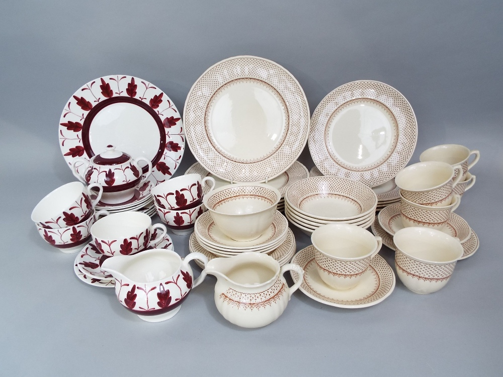 Lot 68 - A quantity of Masons Ashlea pattern wares including milk jug, sugar bowl, twenty two plates and
