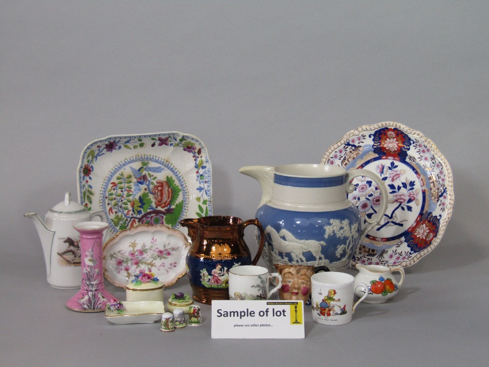Lot 13 - A collection of 19th century and later ceramics relating to sporting subjects including a Crown