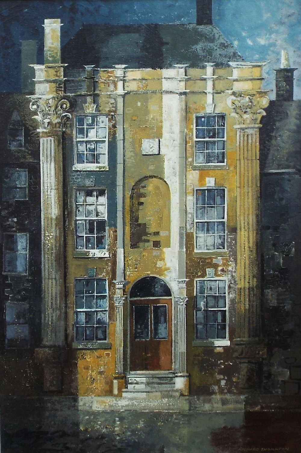 Lot 38 - Richard Thornton (B.1922) - 'House at Stow-on-the-Wold', signed, signed and titled verso, oil on