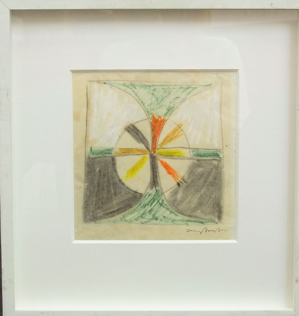 Lot 102 - Sir Terry Frost (1915-2003) - Untitled, signed, mixed media on paper, 20 x 20cm, framed