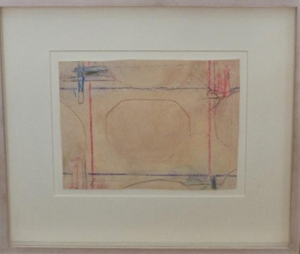 Lot 131 - Sandra Blow (1925-2006) - 'Intermezzo', 1996, paint/collage, 17 x 23cm, framed