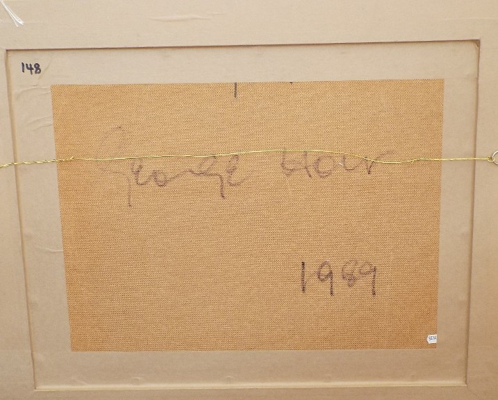 Lot 127 - George Holt (1924-2005) - 'Untitled', signed and dated 1989 verso, Mixed Media, 43 x 57cm, framed