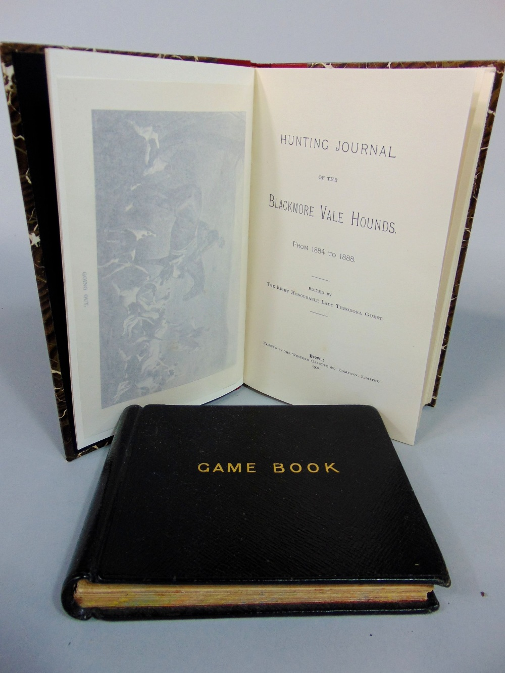 Lot 706 - Hunting Journal of the Blackmore Vale Hands 1884-1888, edited by the Right Honourable Lady