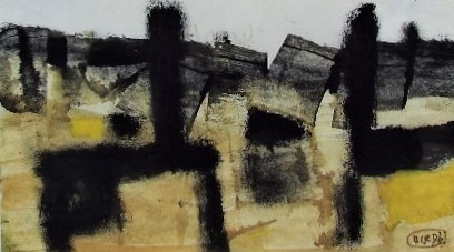 Lot 108 - Roy Turner Durrant (1925-1998) - Untitled, monogrammed and dated 1956, Mixed Media, 12.5 x 20cm,