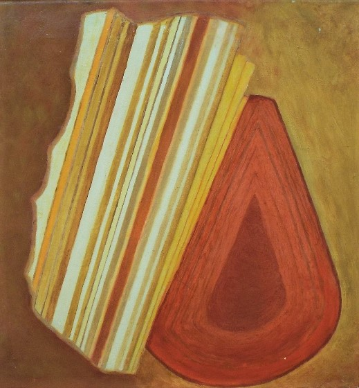 Lot 130 - June Walsh (B.1930) - 'Rhythm', signed and dated 2007 verso, oil on Canvas, 40 x 41cm, framed