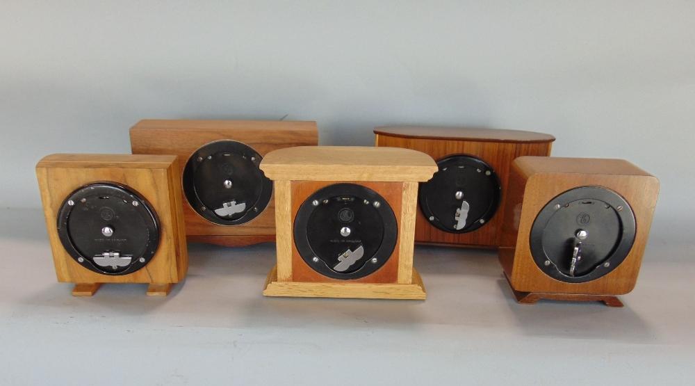 Lot 584 - Five retro Elliot mantel clocks