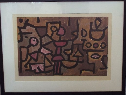 Lot 79 - Paul Klee (1879-1940, Swiss) - Untitled, 215/300 serigraph, 34 x 53cm, framed