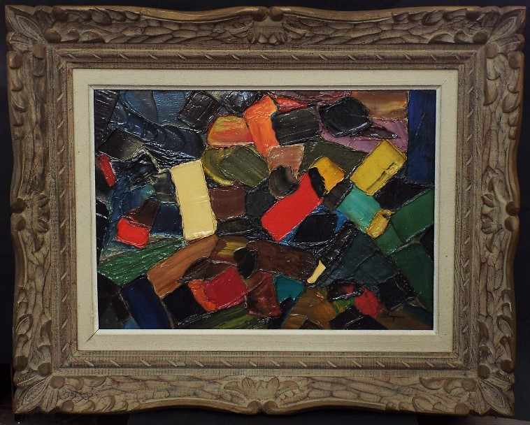 Lot 81 - J P Stagnaro (20th century) - 'Colomb Bechar', signed, signed dated 1959 and inscribed verso, Oil on