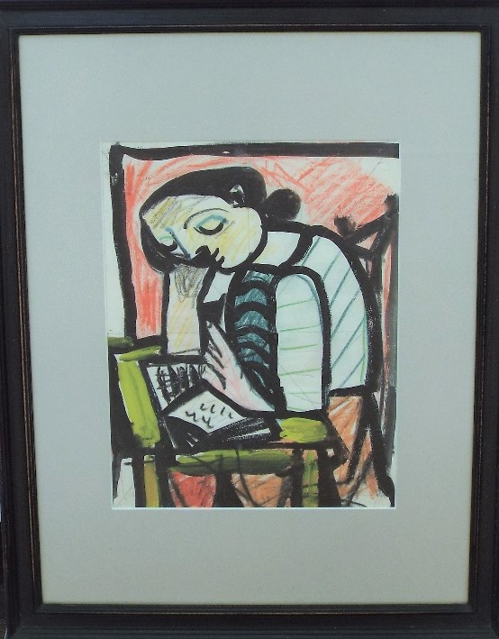 Lot 128 - Carlos Canero (1922-1980, French/Uruguay) - 'Untitled', Mixed Media, 26 x 20cm, framed