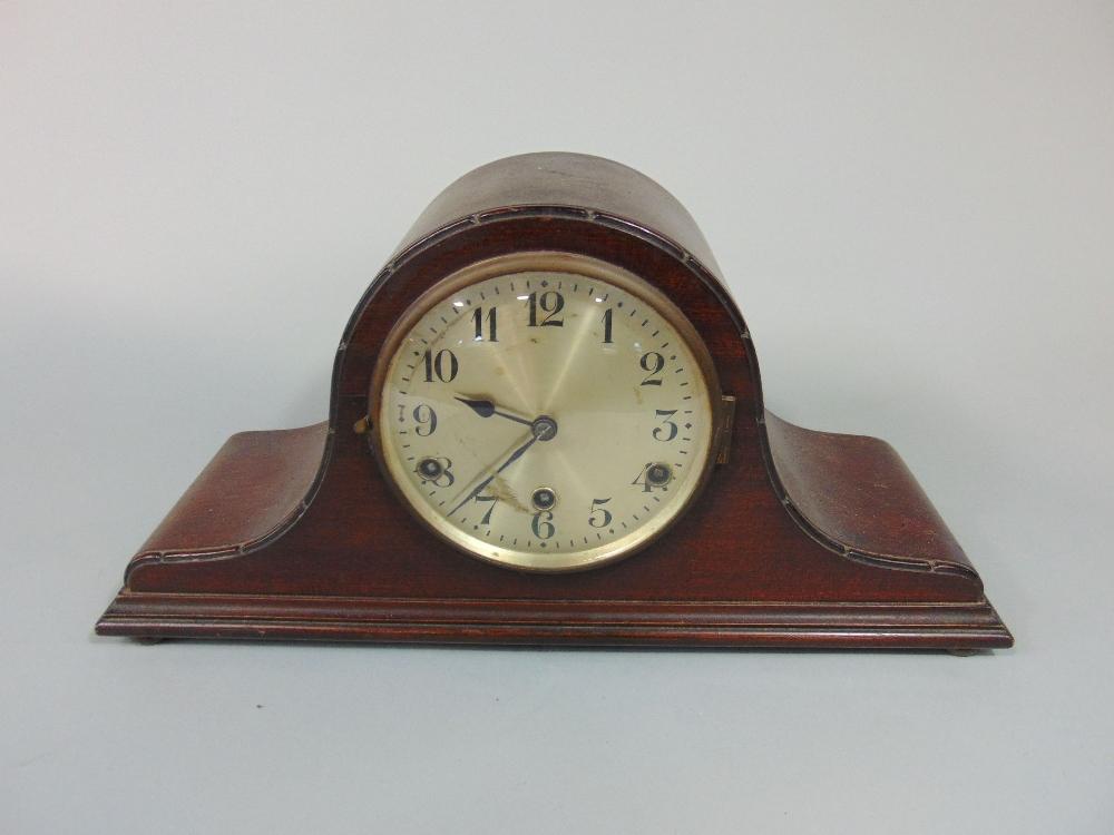 Lot 594 - Napoleon hat three train, musical mantel clock, pendulum