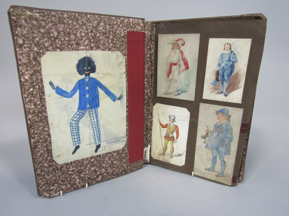 Lot 868 - Nathan's costume House leather bound scrap book containing inspirational scraps for designs of