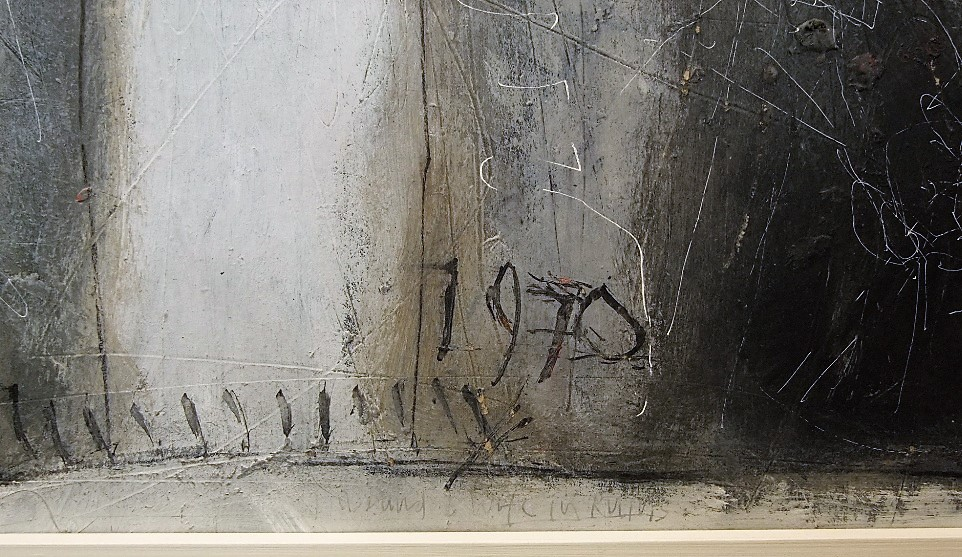 Lot 107 - Roy Turner Durrant (1925-1998) - 'Husband and Wife in Ruins', signed and dated 1970, inscriptions