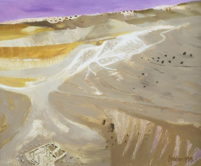 Lot 59 - Mary Fedden (1915-2012) - 'Desert', signed and dated 1989, Christopher Hull Gallery label verso, oil