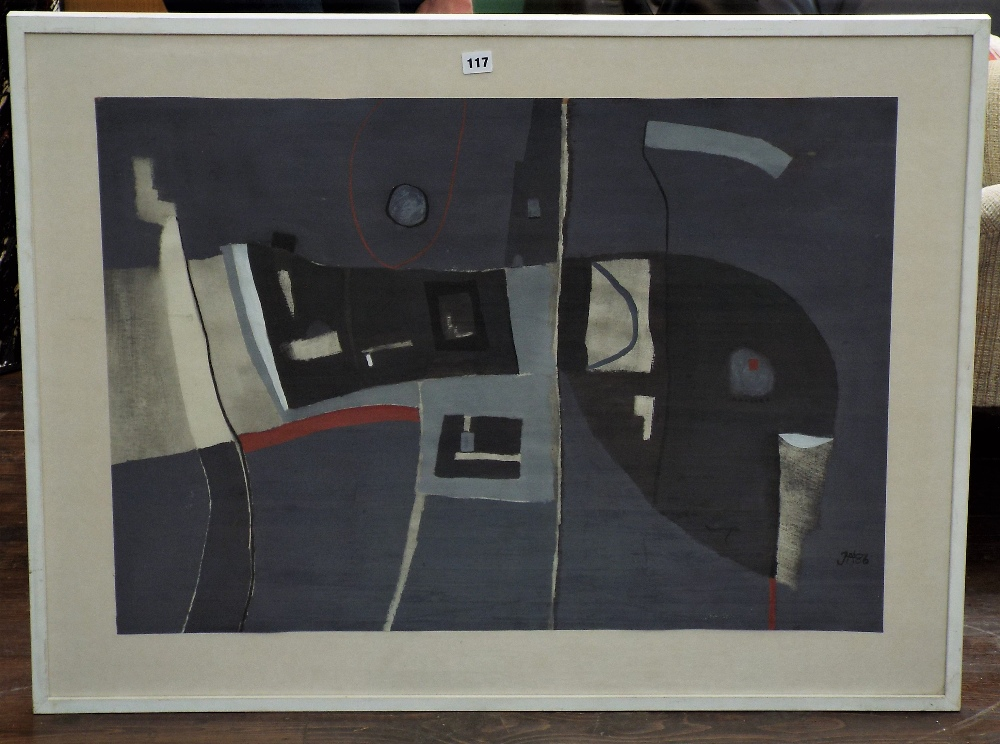 Lot 117 - Jeremy Annear - (B.1949) 'Abstract Interior', monogrammed and dated 1986, inscribed verso,
