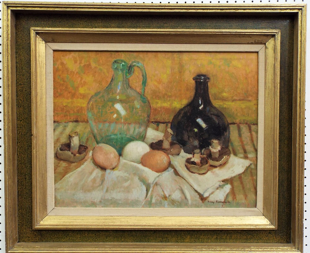 Lot 150 - Mary Remington (1910-2004) - 'The Green Bottle' - signed, inscription title and photograph of the