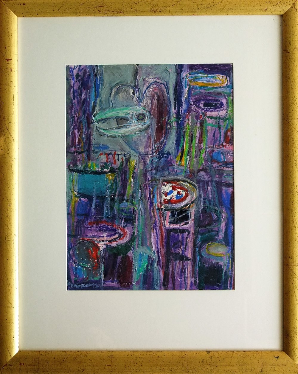 Lot 99 - Ian Humphreys (B.1956) - 'Visitation', signed, inscribed label dated 1992 verso, mixed media, 45 x
