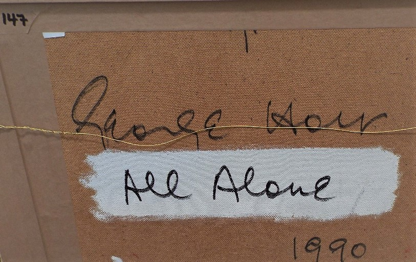 Lot 126 - George Holt (1924-2005) - 'All Alone', signed and dated 1990 verso, Mixed Media, 43 x 54cm, framed