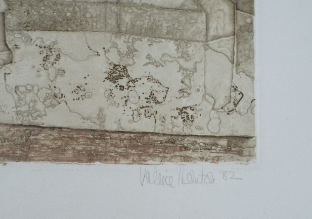 Lot 63 - Valerie Thornton (1931-1991) - 'Walsham-le-Willows', 11/70 etching, 51 x 69cm, unframed