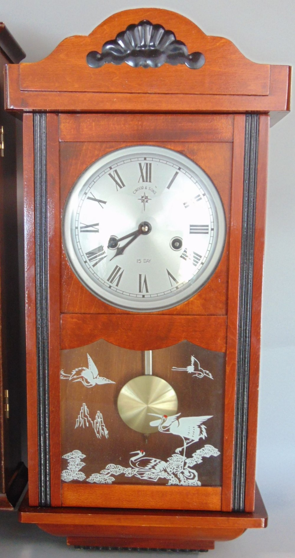 Lot 590 - A collection of five various drop dial wall clocks to include Knight & Gibbons examples, together