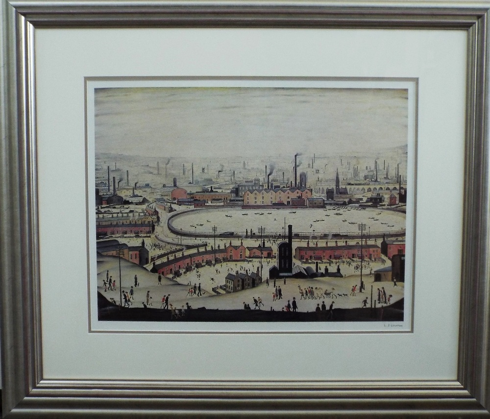 Lot 2 - Laurence Stephen Lowry (1887-1976) - 'The Pond', signed, blind stamp seal, lithograph, 44 x 57cm,
