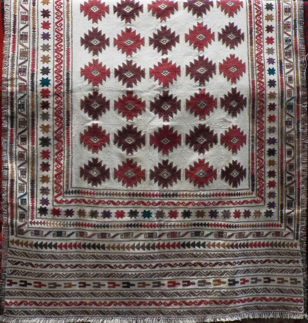 Lot 1440 - Needlework Sumac Kelim, 194 x 127cm