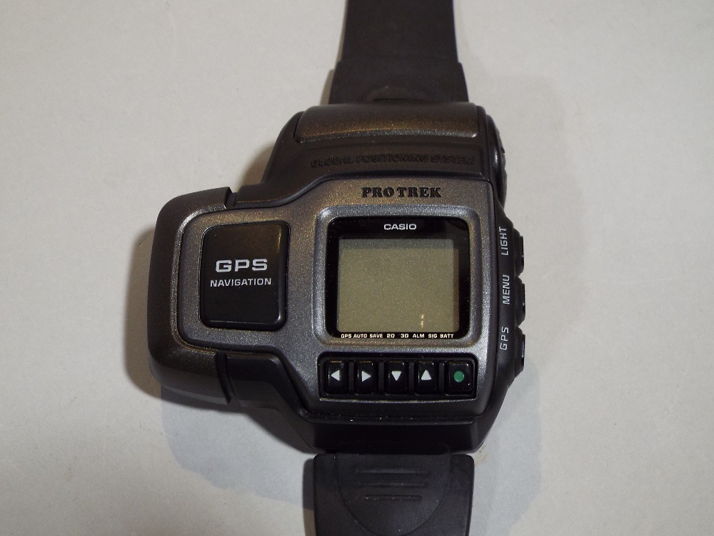 Lot 546 - Collection of vintage watches to include Casio ProTrek with GPS navigation, Seiko quartz Chronograph