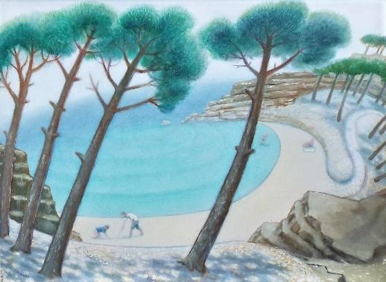 Lot 30 - Jonathan Armigel Wade (B.1960) - 'Sea Mist Clearing', signed, oil on board, 45 x 60.5cm, framed
