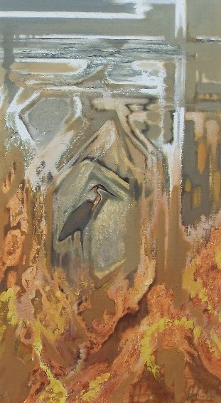 Lot 139 - Oliver Heywood (1920-1992) - 'Purple Heron, Camargue', signed and dated 1964, inscribed verso, oil