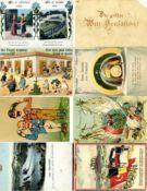 Ansichtskarten,Sonderkarten,Mechanische Karten/PuzzleMechanik-Karte Partie von 14 St.