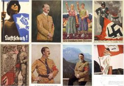 Militaer,WK II,sonstigeWK II tolle Partie von circa 370 Ansichtskarten, teils gute Propaganda,