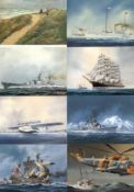 Schiffe allgemeinSchiff, über 300 farbige neuere AK (Segel, Fracht, Passagier, Krieg, U-Boot, DO-