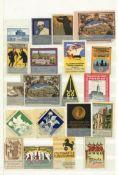 Reklame/Werbung,Marken,sonstigeVignetten Album mit circa 1300 Stück I-II