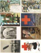 Ansichtskarten,Glueckwunsch,sonstigeGlückwunsch und diverse Thematik wie WKI usw., Album mit über