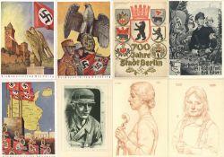 Militaer,WK II,sonstigeWK II Partie von über 120 Ansichtskarten unterschiedliche Erhaltungen