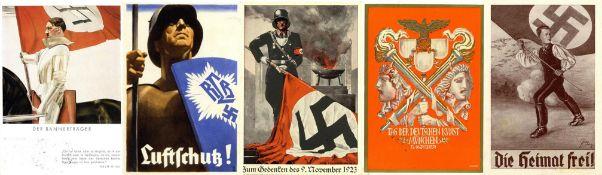 Militaer,WK II,sonstigeWK II Partie von circa 40 Ansichtskarten, teils gute Propaganda I-II