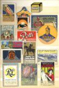 Reklame/Werbung,Marken,sonstigeVignetten Partie von über 750 Stück, teils eingeklebt I-II