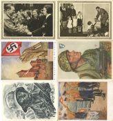 Militaer,WK II,sonstigeWK II Partie von über120 Ansichtskarten, I-II