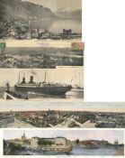 Ansichtskarten,Sonderkarten,sonstigeKlappkarten Panoramen Partie von circa 40 Ansichtskarten (alle