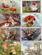 Kunst u. Kultur,Berühmte Maler,sonstigeWeber, Mili Lot mit 26 Künstler-Karten I-II