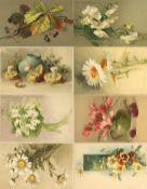 Kunst u. Kultur,Berühmte Maler,sonstigeKlein, Catharina Partie mit circa 80 Künstler-Karten I-II