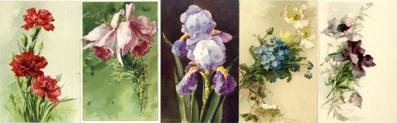 Kunst u. Kultur,Berühmte Maler,sonstigeKlein, Catharina Partie mit über 190 Künstler-Karten meist