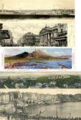 Ansichtskarten,Sonderkarten,sonstigeKlappkarten Panoramen Partie von circa 150 Ansichtskarten I-II