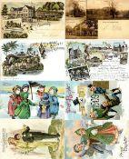Ansichtskarten,Glueckwunsch,sonstigeGlückwunsch Partie mit circa 300 Ansichtskarten auch einige