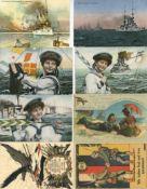 Militaer,WK I,sonstigeWK I Partie mit über 50 Ansichtskarten I-II
