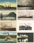 Schiffahrt,Zivil bis WK-II,DampferSchiffe Partie von circa 40 Ansichtskarten I-II
